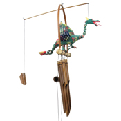 Cohasset Dragon Flame Bobbing Head Bamboo Windchime