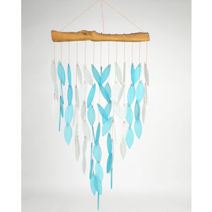 Gift Essentials Glass Waterfall Wind Chime - Blue