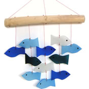 Gift Essentials Glass Fish Wind Chime