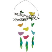 Gift Essentials Glass Bird on Branch Wind Chime