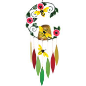 Gift Essentials Glass Bee Skep Wind Chime