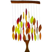 Gift Essentials Glass Tree of Life Wind Chime - Fall Colors