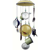 Sunset Vista Designs Pots Pans Silverware Wind Chime - Sunday Brunch