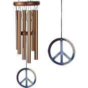 Woodstock Peace Chime-Small, Bronze